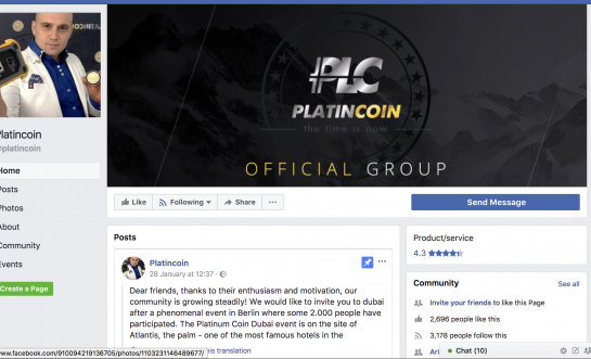 Informational Policy of PLATINCOIN