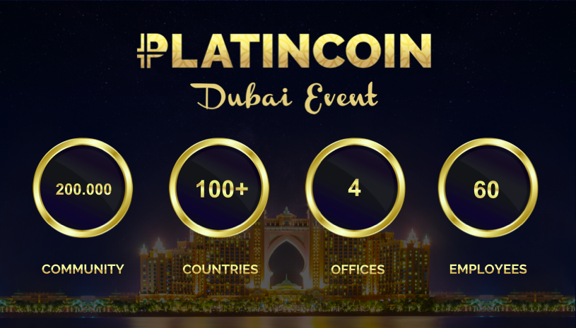 PLATINCOIN EVOLUTION. News from the Platincoin Dubai Event