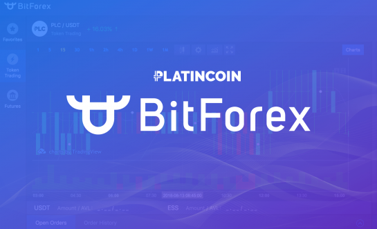 PLATINCOIN on BitForex