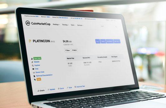 PLATINCOIN Makes It to Coinmarketcap