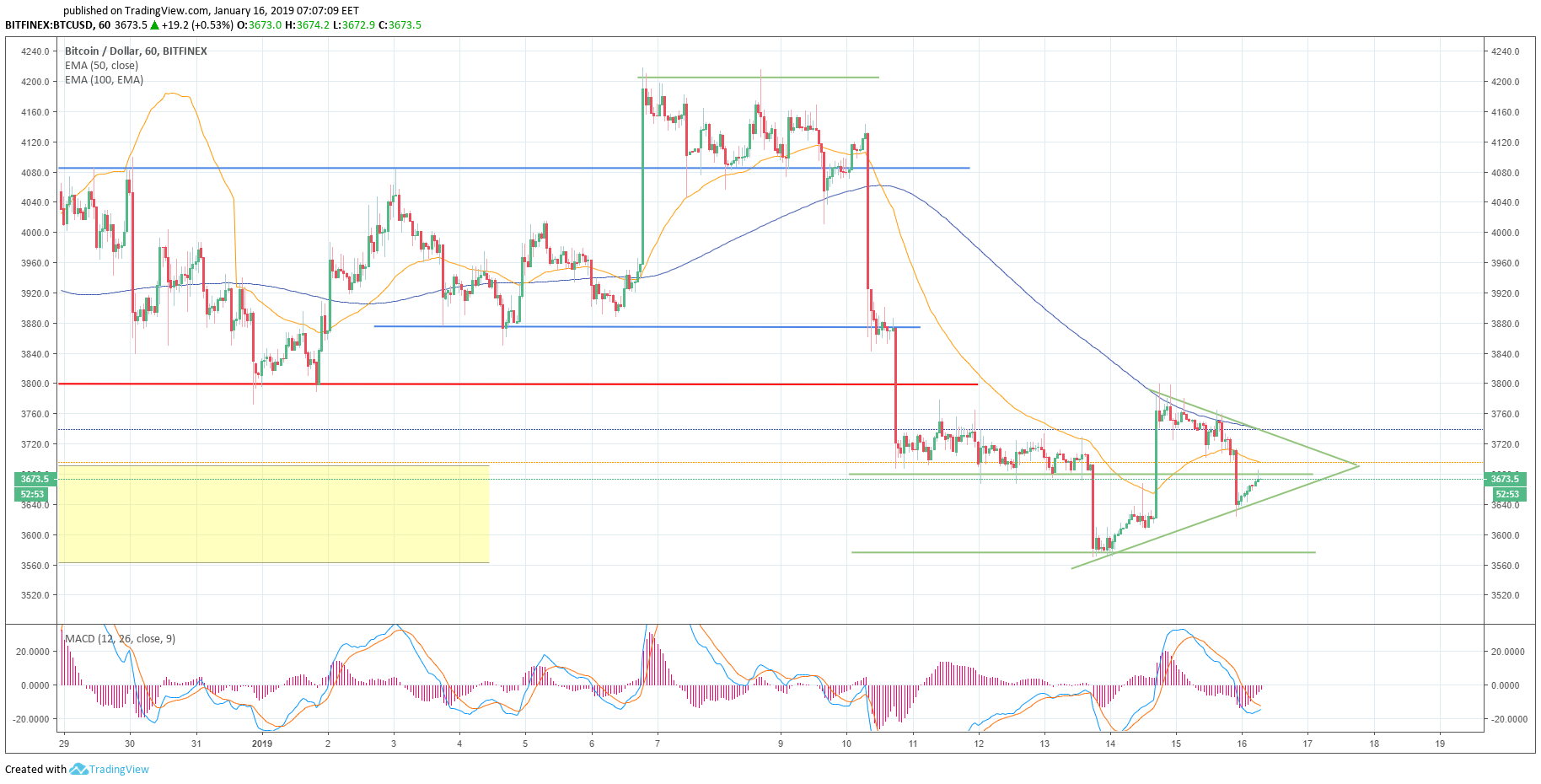 Cryptocurrencies market review 16 January